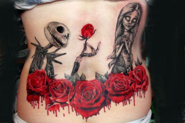 """Ces 20 magnifiques tatouages inspirés du film """"L'Étrange Noël de monsieur Jack"""" vont vous donner des idées plein la tête"""