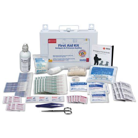 First Aid Only First Aid Kit for 25 People, 106-Pieces, Osha Compliant, Metal Case, Multicolor