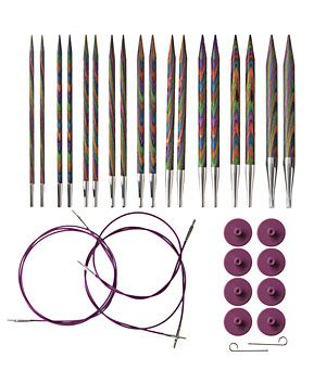 Options Interchangeable Harmony Wood Circular Knitting Needle Set by Knit Picks.  Think I might need to have these