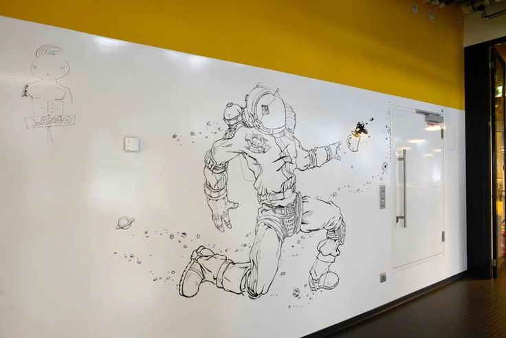It's coffee time! Photo from Pixel Federation using dry erase paint by Smarter Surfaces