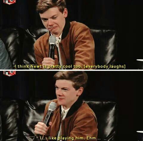 Thomas talking about his character