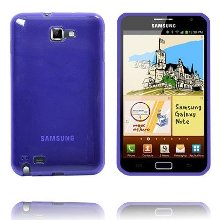 Läpikuultava TPU Muovinen (Violetti) Samsung Galaxy Note Suojakuori