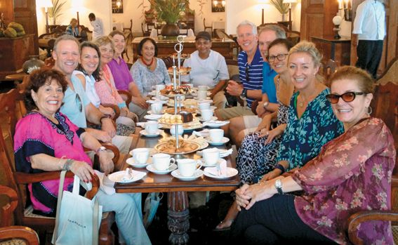 A Gathering of Advisors: The group enjoys afternoon tea at Amangalla in Galle.