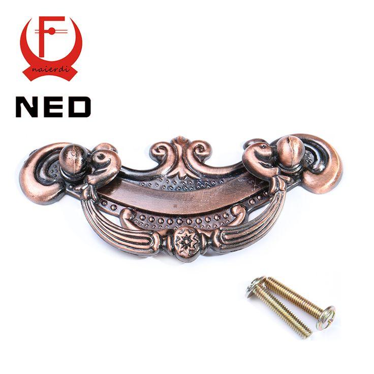 NED-RB8005 Retro Red Bronze Kitchen Cabinet Knobs 64mm Door Cupboard Zinc Alloy Handles Wardrobe Furniture Handle Drawer Pulls #shoes, #jewelry, #women, #men, #hats