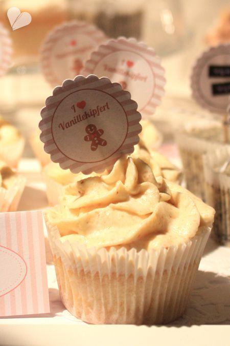 dreierlei liebelei – blog für schönes: Vanillekipferl-cupcakes
