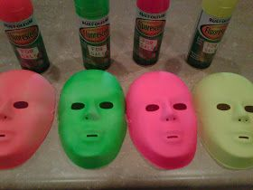 102 Wicked Things To Do: #13 Black Light Mask Room. Also Easy Decor For Black Light Party!