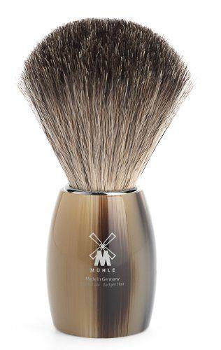 MÜHLE – Rasierpinsel Reines Dachshaar – MODERN Serie – Griff Edelharz hornbraun | Your #1 Source for Beauty Products