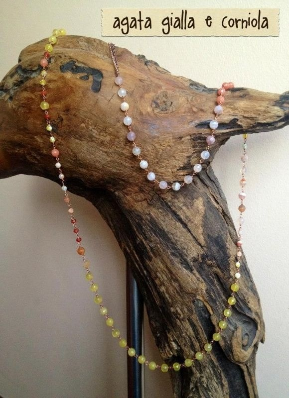 Collana di Giada e corniola Www.etsy.com