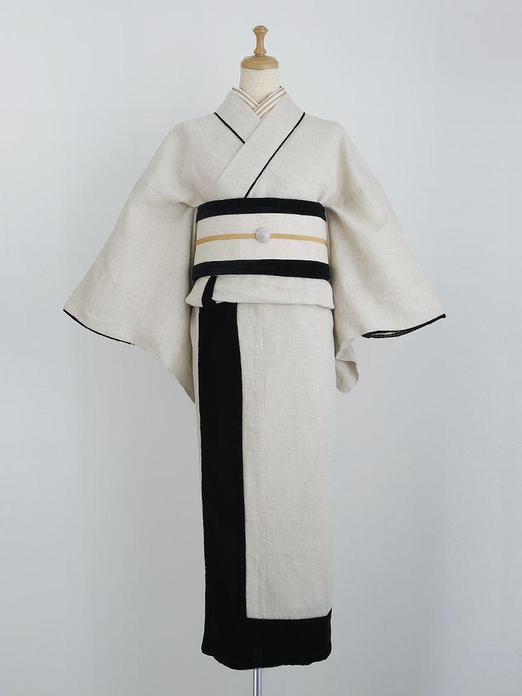Vacation kimono, ivory | DOUBLE MAISON