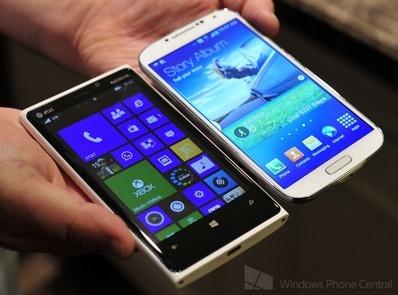 Lumia 920 and Galaxy S4 http://youtu.be/25wzEob5Qx4