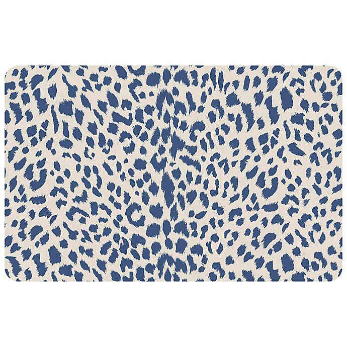 Foflor Cheetah 23 X 36 Kitchen Mat In Blue Bed Bath Beyond