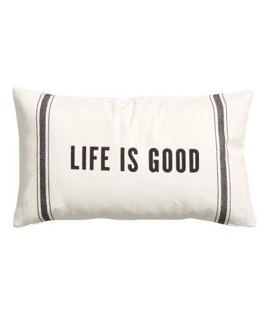 H&M Cotton Cushion Cover $12.95 (couch)