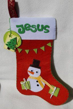 Bota Navidad fieltro diy