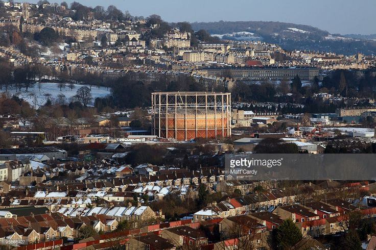 A gasometer is surrounded by houses on January 9 2010, in Bath, England. Prime Minister Gordon Brown has pledged the UK's gas supplies will not run out during the current cold snap despite the fact National Grid had issued two alerts, that were subsequently lifted, to warn of a potential shortfall in supplies. Britain is continuing to be gripped by the Arctic weather and forecasters are predicting more snow in the next 24hrs and that the cold spell could last for at least another week.
