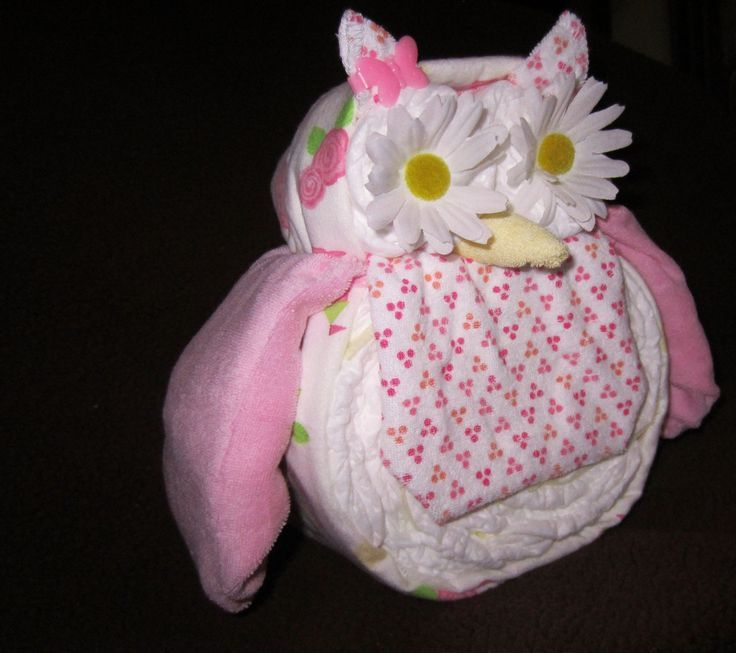 Owl baby shower ideas for girls | Diaper Owl Boy/Girl Diaper Animals (about 10 inches tall) Baby Shower ...