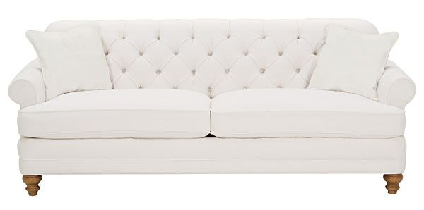"""Evelyn """"Designer Style"""" Fabric Upholstered Tufted Sofa w/ Rolled Arms $1,334"""