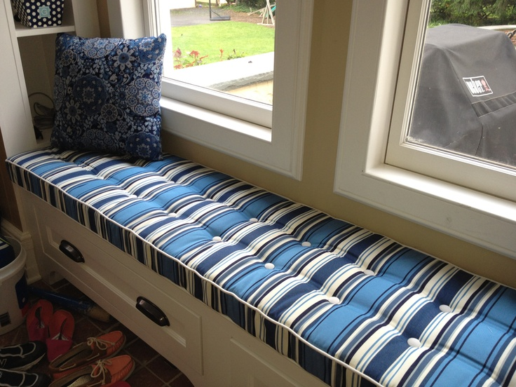 Custom Deluxe Window Seat Cushion Made With Outdura