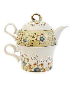 the flower collection ceramic tea set