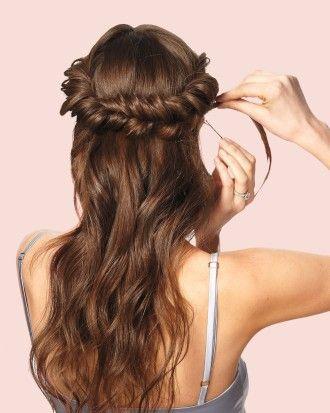 125 best wedding hair images on pinterest braided updo bridal wedding hairstyles do it yourself updos for medium hair martha stewart weddings solutioingenieria Images