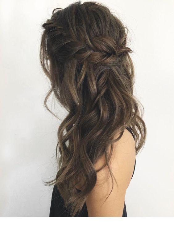 Einfache geflochtene Frisur