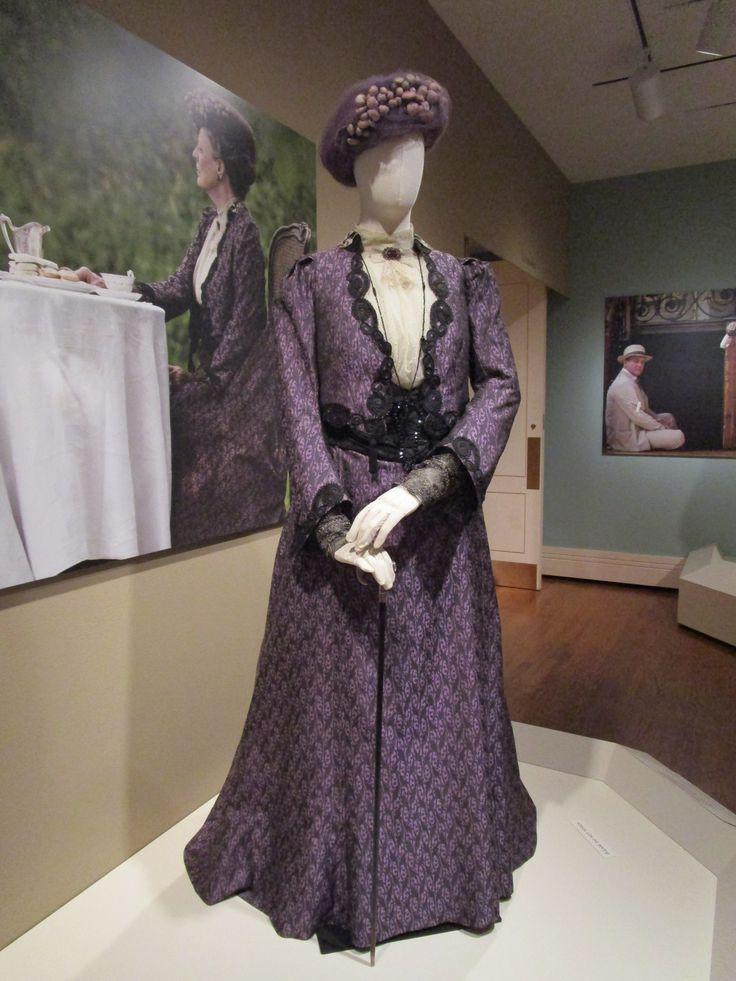 2016-08-26 Taft Museum Downton Abbey Exhibit - Violet Crawley's purple silk day dress (Season 1)