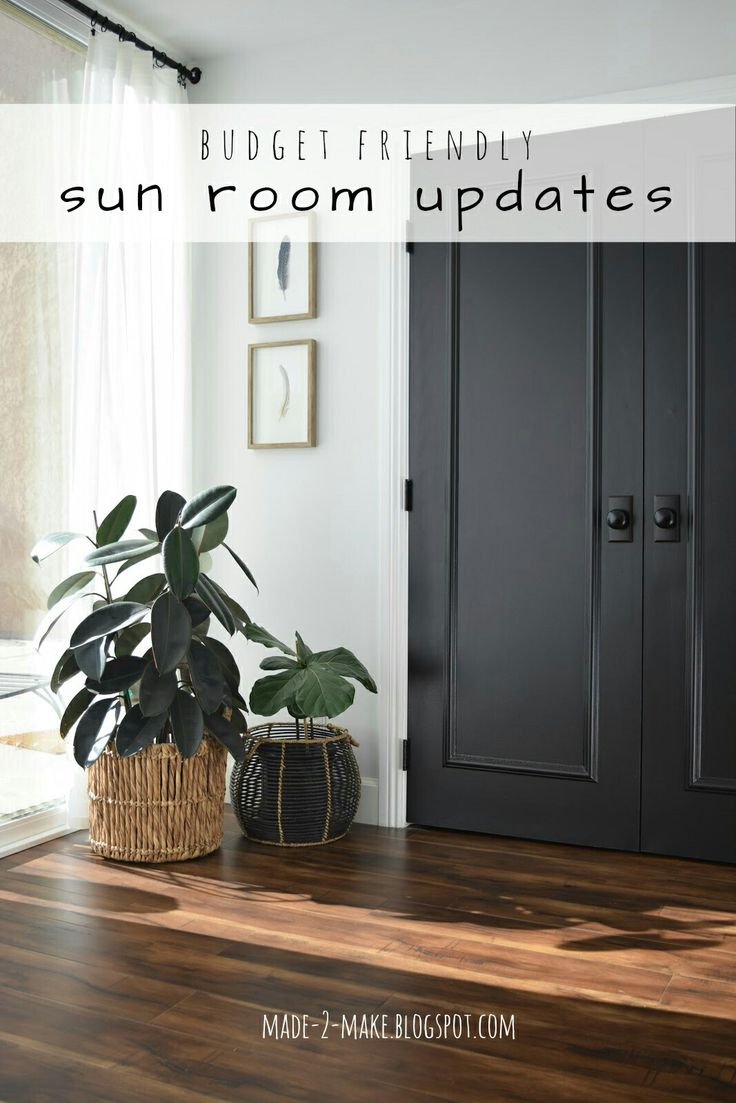 Made2Make Blog   Budget Friendly Sun Room Updates: Paint, curtains, and more!