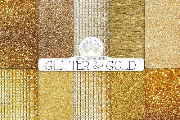GOLD GLITTER digital textures by RoyalDigitalStore on @creativemarket #goldglitter #glittertexture #goldtexture