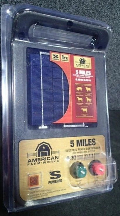Electric Fence Chargers 139588: *American Farm Works Esp5mac-R1 Solar Electric Fence Controller 5 Miles Shipped* -> BUY IT NOW ONLY: $99.95 on eBay!