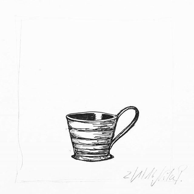 Ich trinke meinen Tee aus Kaffeetassen. Diese #cbdrawaday Challenge fordert aber für heute #teacups und diese hier aus dem Feed von @keramik3punktf gefällt mir auch sehr gut. Meine eigentliche private Challenge ist übrigens, dieses Jahr jeden Tag irgenwas zu zeichnen, das ich auf einem Eurer Bilder gesehen habe. Ob sich das so ausgehen wird? #kritzelnzwosechzehn #kritzeln #sketchbook #cbdrawaday #creativebug
