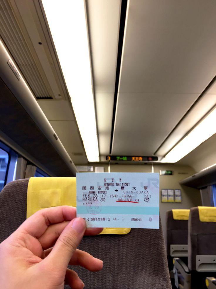 Haruka Limited Express ticket from Kansai International Airport tu Shin Osaka