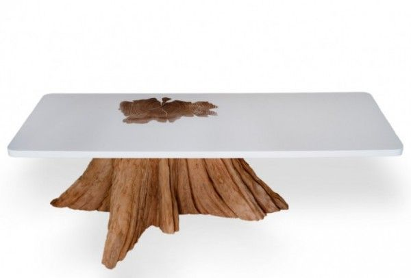 tree trunk tables | Tree trunk table : MTH Woodworks knows how to integrate green with ...