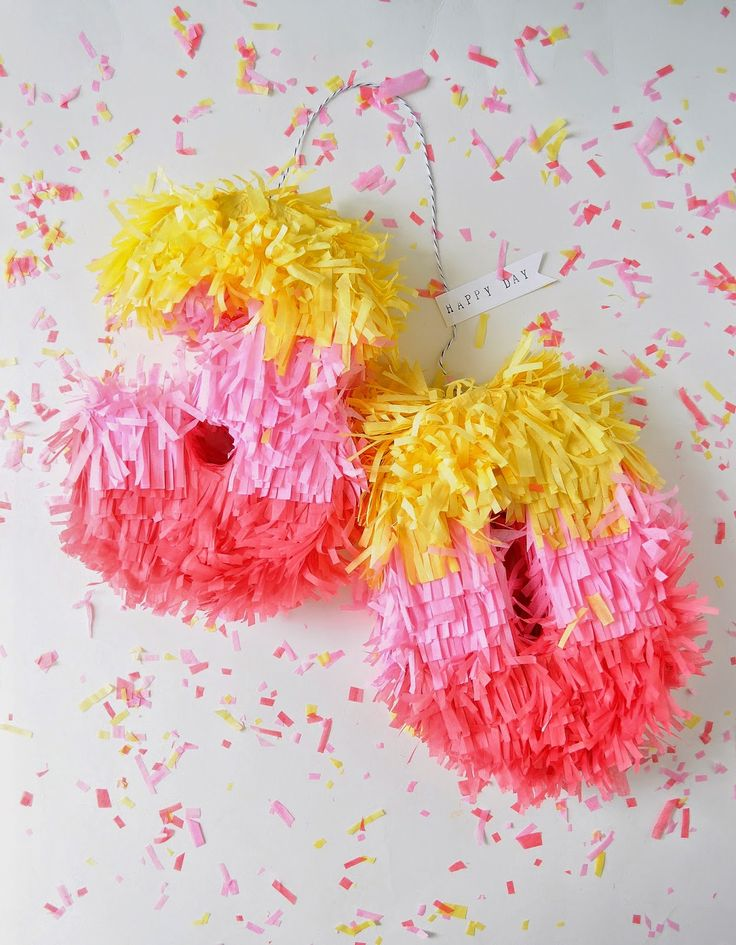 DIY cereal box mini pinata for the 30th birthday! Great way to jazz up a fun fiesta.