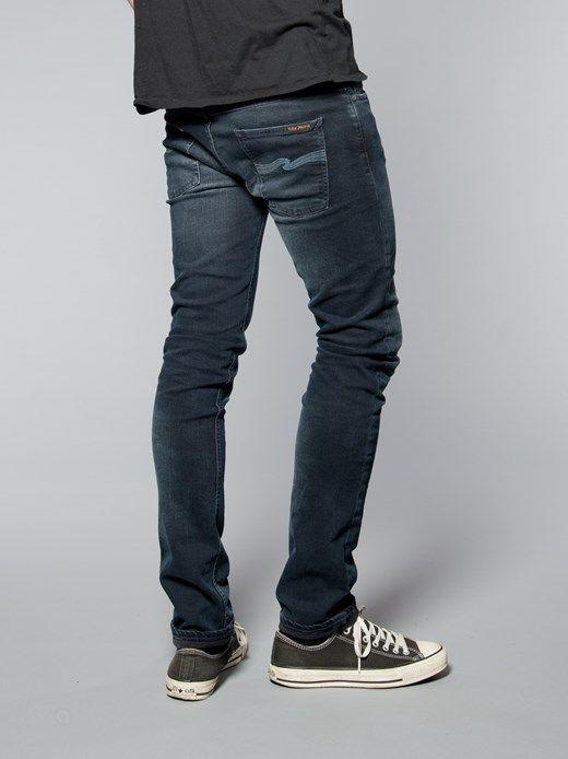 thin finn organic blue strike nudie jeans co online shop. Black Bedroom Furniture Sets. Home Design Ideas