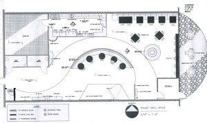 Planimetrie per caffetterie americane.