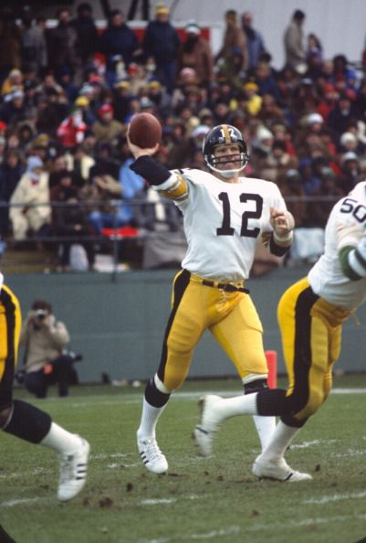 Quarterback Terry Bradshaw of the Pittsburgh Steelers  1977.
