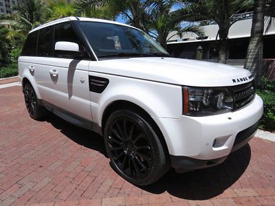 2012 Land Rover Range Rover Sport 4WD 4dr HSE Florida 2012 Land Rover Range Rover Fuji White Celebrity Luxury SUV V8 Call Now