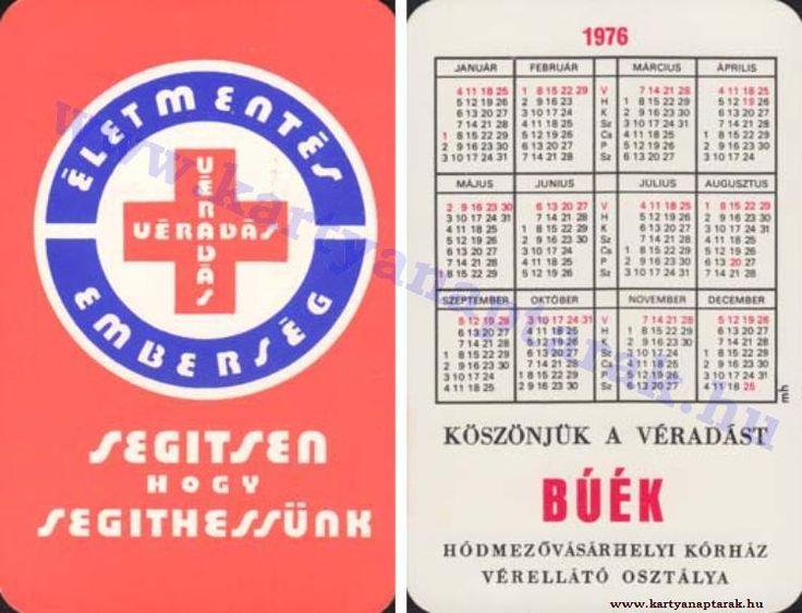 1976 - 1976_0813 - Régi magyar kártyanaptárak