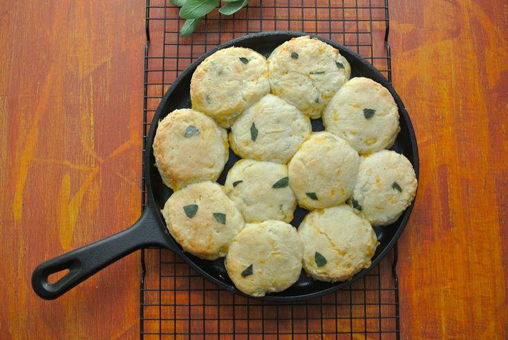 Easy Cheddar Sage Biscuits