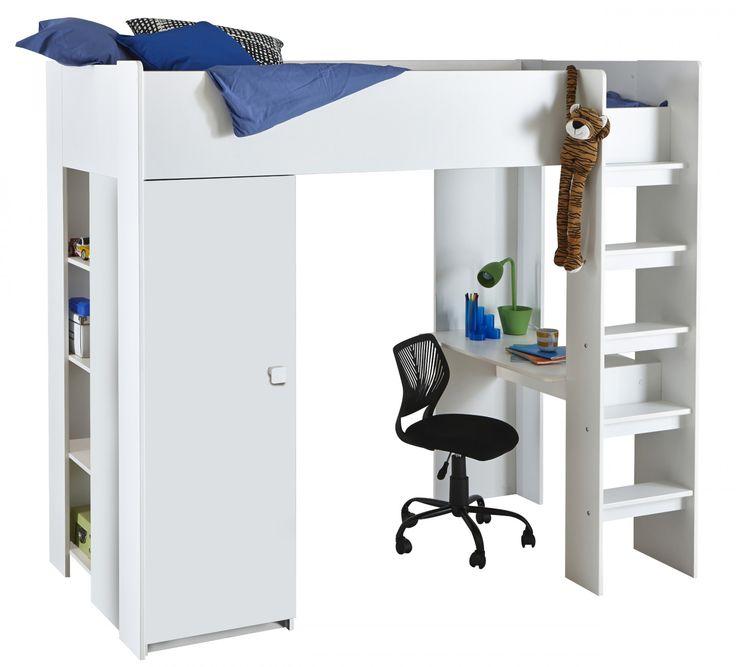 les 25 meilleures id es concernant lit mezzanine 90x190 sur pinterest lit 90x190 lit enfant. Black Bedroom Furniture Sets. Home Design Ideas