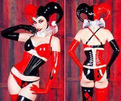 Red/Black Harley Qui - http://www.femalejokercostume.com