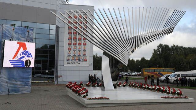 Kontinental Hockey League - Day of Remembrance in honor of Lokomotiv. Never forgotten. RIP