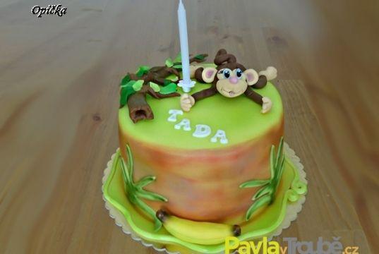 dětský dort opička