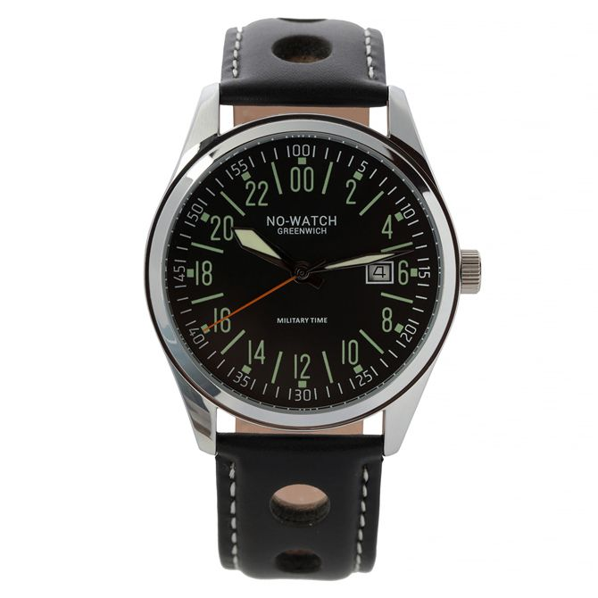 Military 24 hour dial watch No-Watch Zulu CM1-2711