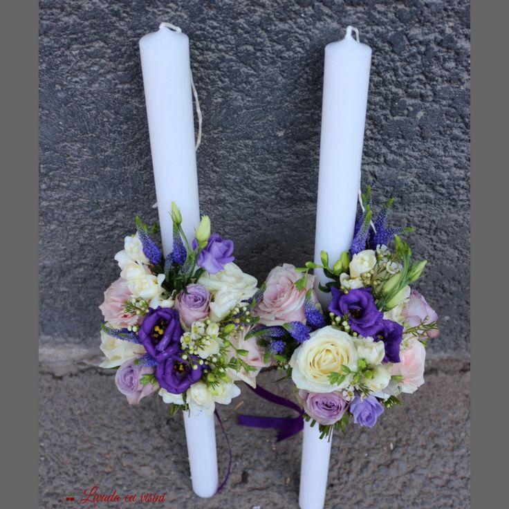 #lumanari #cununie #nunta #pastel #hortensie #trandafiri #wedding #candles #blush #blossom #romantic #purple #white #pink #lila #roses #veronica #flori