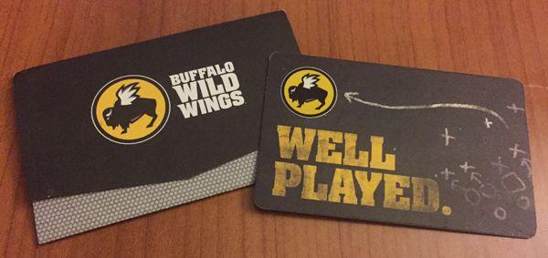 Enter to win a Buffalo Wild Wings gift card (Canada)