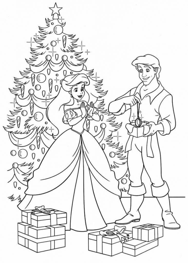 Ariel Christmas Coloring Pages Disney Princess Coloring Pages Mermaid Coloring Pages Princess Coloring Pages