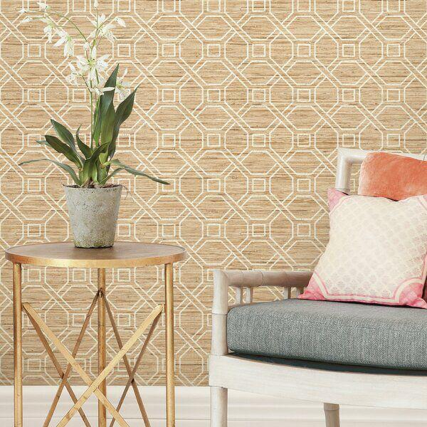 Antoine Trellis 16 5 L X 20 5 W Peel And Stick Wallpaper Roll Decor Peel And Stick Wallpaper Affordable Decor