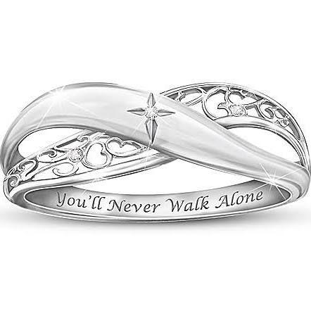Religious Daughter Diamond Ring Pure Faith