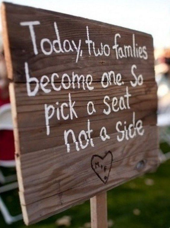 Rustic wedding sign / http://www.himisspuff.com/country-rustic-wedding-ideas/2/ …