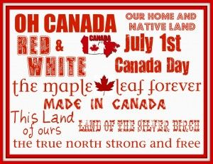 Canada Day Printable - Daily Dish Magazine